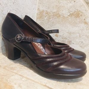 Dansko Brown Mary Jane Leather Becky Shoes Size 40